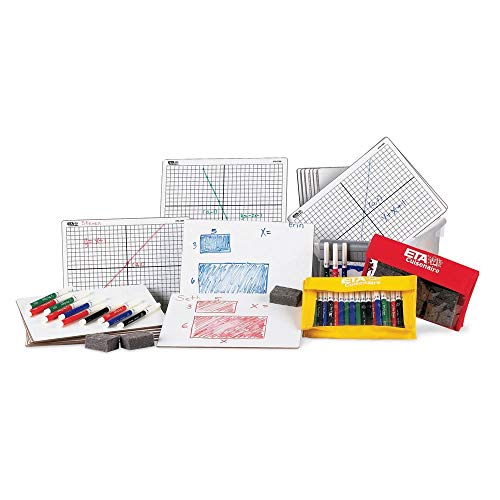 hand2mind XY Coordinate Grid White Boards for Students, Grid Board for Graphing, Dry Erase Boards, Portable Whiteboard, School Supplies, Classroom Supplies (Pack of 30)