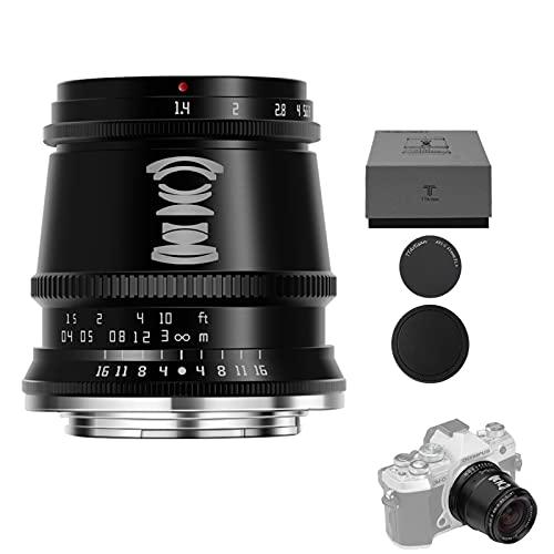 TTArtisan Obiettivo 17 mm F1.4 APS-C con messa a fuoco manuale, compatibile con fotocamere MacroM43 Mount EPM EPL E-P E-M Pen-F G GF GX GM GH