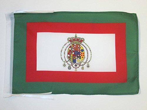 AZ FLAG Flagge KÖNIGREICH BEIDER SIZILIEN 1848-1860 45x30cm mit Kordel - ITALIENISCHE Fahne 30 x 45 cm - flaggen Top Qualität