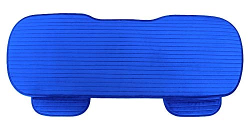 Happy Shop Car Seat Cover Car Seat Cover Front Rear Flocking Cloth Cushion Non Slide Auto Accessories Seat Protector Mat Pad Keep Warm in Winter comfortable (Color : Rear blue 1)