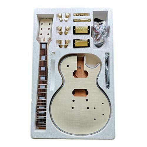 Shiwaki Kompletter Bausatz für LP E-Gitarre, Gitarre DIY Kit, Weihnachtsgeschenk für Kinder Herren