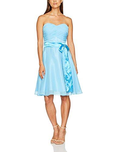 Astrapahl Damen br07005 Kleid, Blau (Hellblau Blau), 40