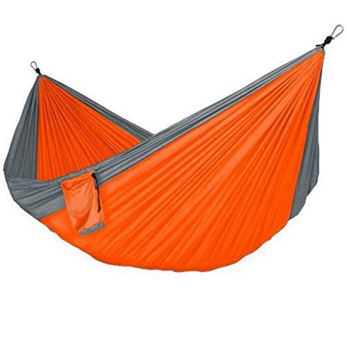 Columpio Solo Doble Hamaca al Aire Libre Swing 125.9x78.7 Pulgadas Nylon Paño para paracaídas Portátil Portátil Hamaca de Ocio Viaje de Viaje Camping Hamaca Swing Swings
