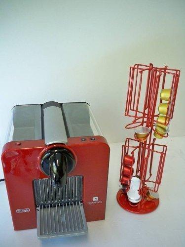 Kapselspender,Kapselhalter Cupholder Nespresso von James Premium in rot drehbare Version passend für 8 Sorten alles auf kleinster Fläche