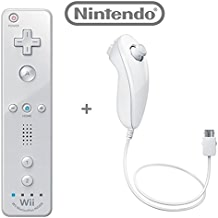 $59 Get Official Nintendo Wii/Wii U Remote Plus Controller and Nunchuk Nunchuck Combo Bundle Set [White] (Bulk Packaging)