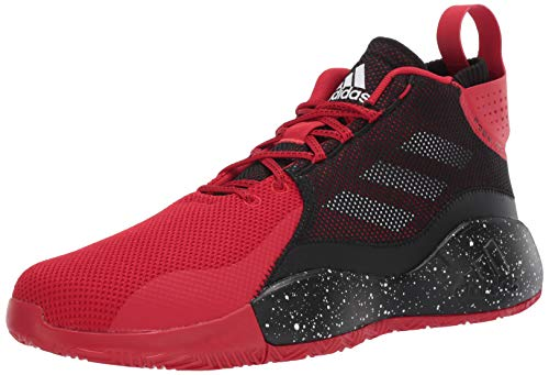 adidas unisex adult D Rose 773 2020 Basketball Shoe, Scarlet/Black/White, 9.5 US