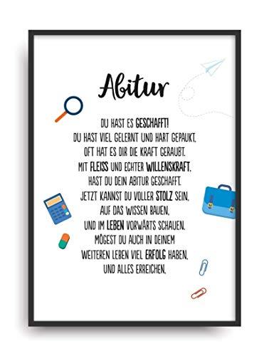 Geschenk Karte ABITUR Kunstdruck ABI 2020 Schule Abschluss Prüfung Bild ohne Rahmen DIN A4