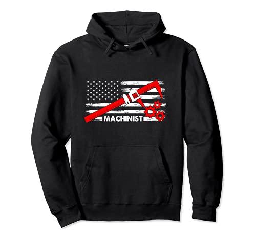 Maschinist Amerika Flagge CNC Dreher Fräser Mess Werkzeug Pullover Hoodie