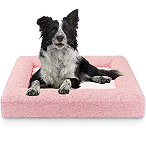 Bolux Dog Bed, Memory Foam Pet Bed, Orthopedic Dog Bed, Dog Kennels and Crates Pads, Dog Travel Mat, Plush Dog Beds for Small & Medium Dogs Clearance