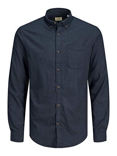 JACK & JONES Male Hemd Button-down Twillweb LNavy Blazer