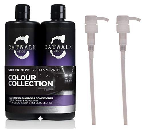 Catwalk by TIGI Fashionista Violet Tween Duo Shampoo und Conditioner für blondiertes Haar 2x 750ml mit Pumpen