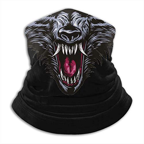 Archiba Cache-Cou Gaiter, Couverture de pour Le Visage de Moto en colère avec tête de Loup pour l'hiver et Le Maintien au Chaud