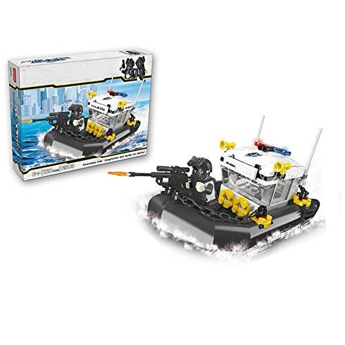 Speciale Politie-Serie Patrouille Boot Voor Kinderen Educatief Assembleren Kleine Deeltjes Speelgoed Ontwikkeling Van De Hersenen Educatief Speelgoed 168 Tabletten