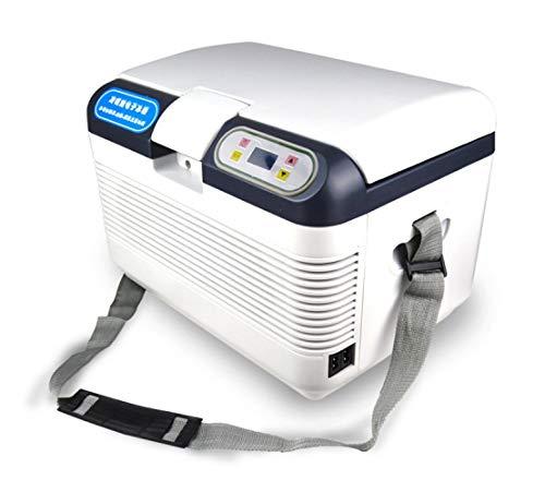 WY-Frigoríficos mini Refrigerador del Coche, Caja del congelador del compresor Caja del congelador, con conexión de 12/24/220 voltios para automóviles y Camiones, Capacidad 12L
