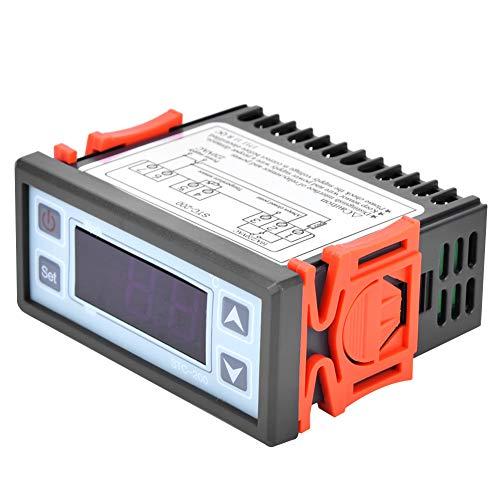 Wosune Termostato de microordenador, Controlador de Temperatura práctico Multifuncional para máquina de mariscos para refrigeración para Calentador de Agua