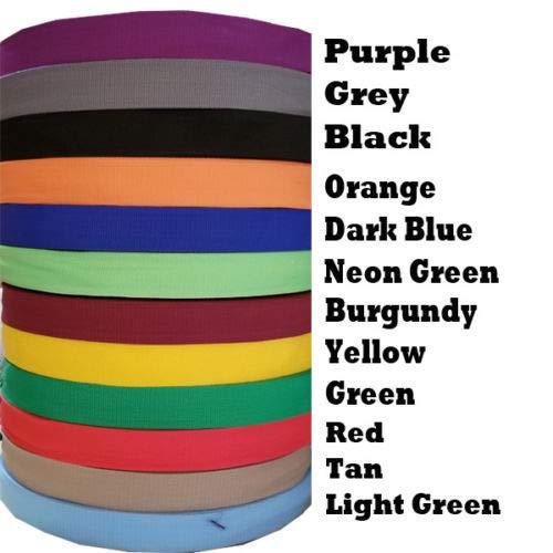 Best Buy! 1 Inch Polypropylene Webbing Tan Orange Nylon Strap 5 Yard Color (Red)