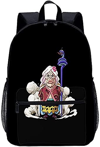 Onepiece - Mochila de personaje anime, mochila de escuela primaria para niños, cómoda, gran capacidad, portátil, Onepiece2, 13 pulgadas,