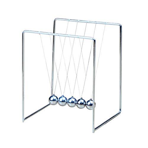 hearsbeauty Simple Newton Cuna Balanza Balanza Metal Completo Modelo Experimental Artesanía Juguetes Educativos Liberación Presión S