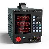 RockSeed プログラマブルDC電源可変 調整可能な30V / 5Aスイッチング安定化電源 ワニ口リード付き ショートカットパラメータストレージ PCソフトウェア ラボ機器用USBインターフェイス RS305P