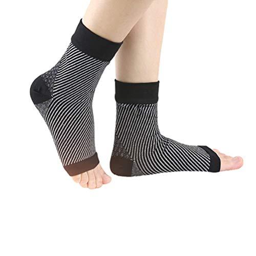 Healifty Plantar Fasciitis Sleeves Socks Knöchelkompressionsunterstützung Knöchelkompressionssocken für Die Bogenunterstützung Fußknöchelschwellung Achillessehne Größe S/M Schwarz