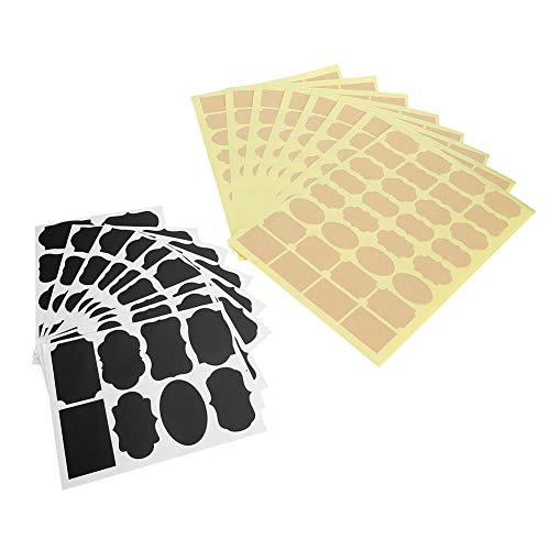 Etiqueta engomada del PVC de la cocina, etiqueta engomada reutilizable del PVC de la maceta 328pcs fácil de rasgar para marcar las cajas de té para marcar el café