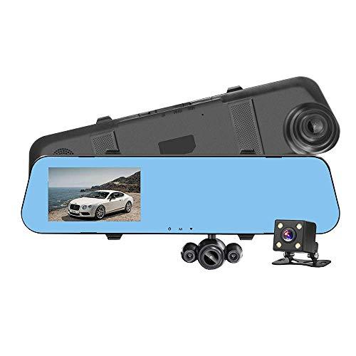 WGFGXQ Cámaras De Tablero Lente Giratoria Dashcams para Automóviles Delantero Y Trasero 170 Grados Gran Angular Dash CAM Grabación Doble 1080P HD G-Sensor Cámara De Marcha Atrás