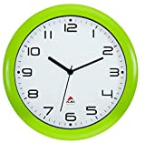 ALBA HORNEW - Orologio da Parete al Quarzo, Silenzioso, 30 x 5,5 x 30 cm, Colore: Verde