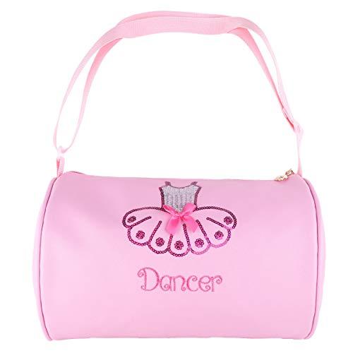 YOOJIA Niñas Bolsa de Cuero de Danza Ballet Bolsa de Hombro con Lentejuelas Brillante Bandolera Bailarina Talla Única Rosa Talla Única