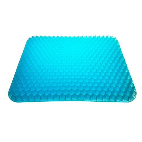 ABTSICA Gel Seat Cushion, Office Chair Seat Cushion Pad with Non-Slip Cover Breathable Honeycomb Pain Relief Sciatica Egg Crate Cushion for Car Wheelchair,C,42 * 37 * 4CM