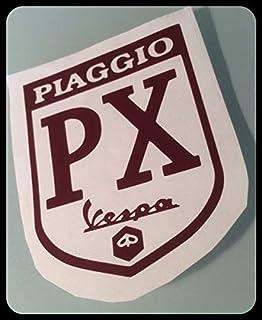 SUPERSTICKI Piaggio PX Vespa Roller Logo 15cm Aufkleber,Roller, Motorroller,Scooter, Autoaufkleber,Wandtattoo,Sticker Profi Qualität für Lack,Scheibe,etc.Waschanlagenfest