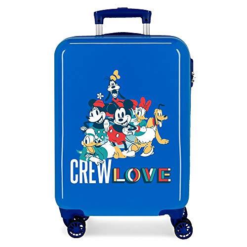 Disney Always Original Maleta de Cabina Azul 38x55x20 cms Rígida ABS Cierre de combinación Lateral 34L 2,7 kgs 4 Ruedas Dobles Equipaje de Mano