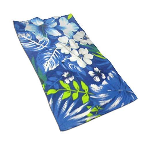 WH-CLA Bath Sheet Toalla De Playa Duradera De Moda Azul Real Hawaiana Acogedora Toalla De Piscina De 80X130 Cm Toalla De Baño Premium De Secado Rápido Suave para Adultos Toallas De Baño P