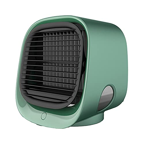 Portable Air Conditioner Fan Cartoons Evaporative Portable Cooler Fan,with Night Personal Evaporative Conditioner Home Use green