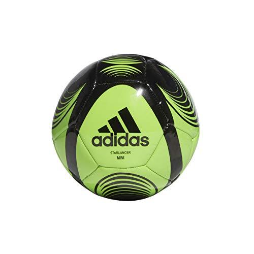 adidas STARLANCER Mini, Pallone da Calcio Unisex Adulto, Solare Verde/Nero, 0