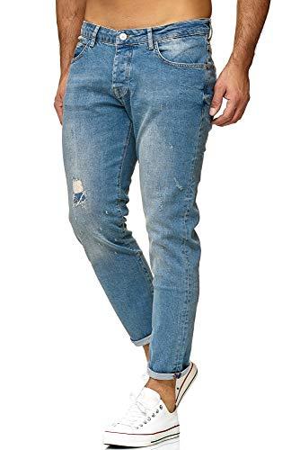 Red Bridge Herren Jeans Hose Regular-Fit Ripped TRBC Titan Hellblau W36 L34
