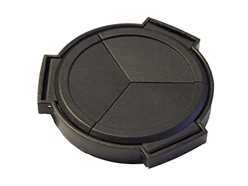 vhbw Automatik Objektivdeckel passend für Panasonic Lumix DMC-LX7 Kamera - Kunststoff, schwarz