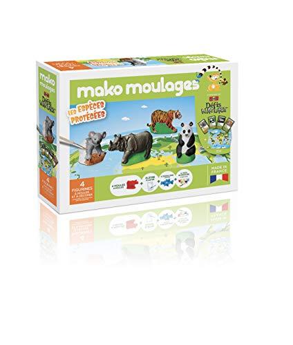mako moulages- Coffret Les Espèces Protégées Défi Nature Kit Créatif, 39061