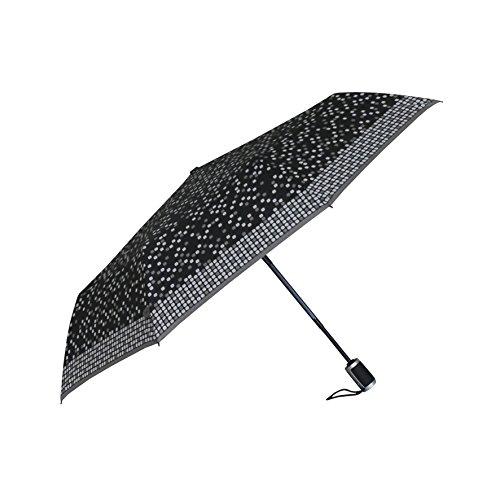 Opvouwbare paraplu om te openen en te sluiten met automatische opdruk pixels.