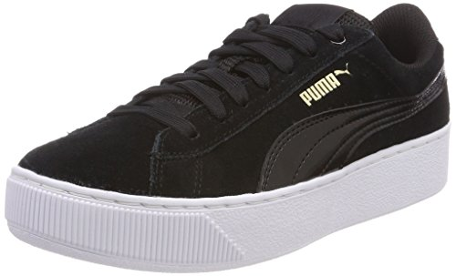 PUMA Damen Vikky Platform Sneaker, Schwarz Black White, 39 EU