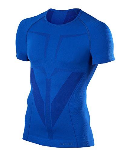 FALKE Warm Tight Fit M S/S SH Couche de base supérieure Homme, Bleu (Yve 6714), XL
