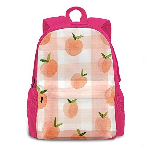 3d Tropical Pink Fruit Peach Multipurpose Backpack Daypacks Bookbag For Women Men Kids