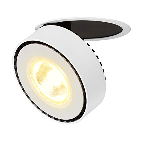 Dr.lazy 12W LED Luz de Techo Lamparas Focos LED Empotrables, Iluminación empotrable,Focos de techo,LED Lámpara de techo,LED Plafón con Focos,10X3.5CM,Agujero Φ9CM (Blanco-3000K)