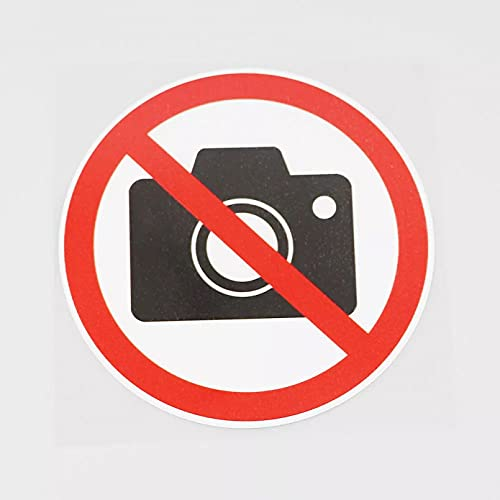 KDEQT Sticker De Carro La Fotografía De 12Cmx12Cm Está Prohibida Aquí, Pegatina De PVC para Coche, Cámara