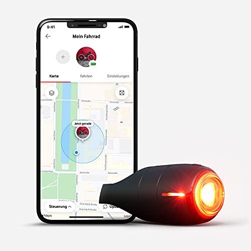 Vodafone Curve Bike Light & GPS Tracker, Fahrrad Brems- Rücklicht, Unfallerkennung, Hilfemeldungen, Diebstahlschutz, Zonen, Tourenansicht, robust, wasserdicht, IP67, StVZO zugel, 24 Monate ABO inkl.