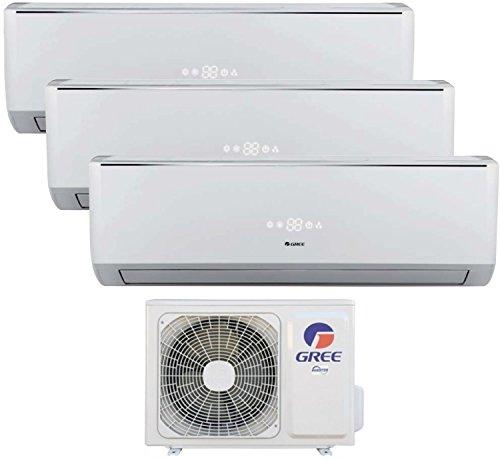 Trio Split de aire acondicionado climática dispositivo 12+ 12+ 12Gree lomo Inverter Clase A + +/A +