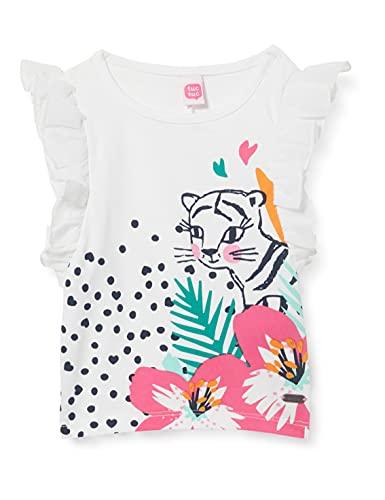Tuc Tuc Camiseta Punto Y Tul Love Sauvage, Blanco, 1A para Bebés