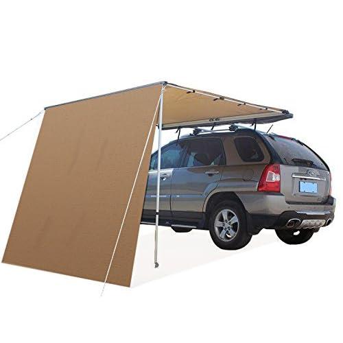 Offroaidng Gear 4.5'L x 6.5'W Roof Rack 4x4 Awning w/Free 6.5' Front Extension Car/SUV/Truck - Dark Beige