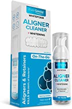 WhiteFoam On-the-Go Clear Retainer Cleaner for Invisalign, Dentures, ClearCorrect, Essix, Vivera & Hawley Trays/Aligners. Cleans, Kills Bacteria, Whitens Teeth & Fights Bad Breath (50ml - 1 Pack)