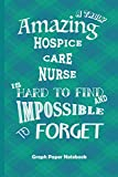 Amazing Hospice Care Nurse: Graph Paper Notebook Best Gift for Colleagues, Friends and Family 6x9 100 pages