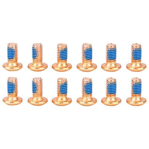 Everpert 12 stücke M5x8mm Scheibenbremse Rotor Schrauben T25 Torx Titan TI MTB Fahrrad Flaschenhalter Schrauben Käfig Schraube (Gold)